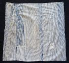 Japanese Vintage Textile Cotton Indigo Arashi-Shibori Cloth