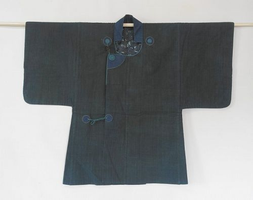 Japanese Antique Textile Cotton Han-gappa Late Edo Period