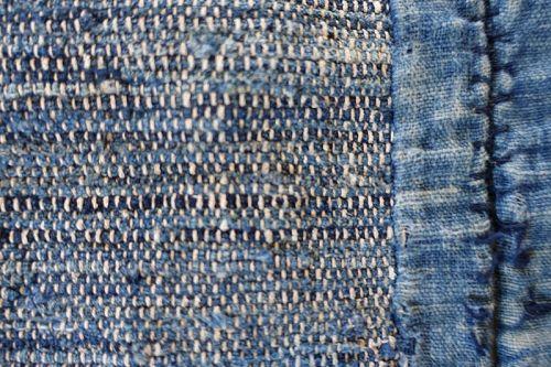 Japanese Vintage Textile Boro Indigo Sakiori Sodenashi Vest
