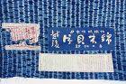 Japanese Vintage Textile Cotton Echigo Katakai Shibori Cloth