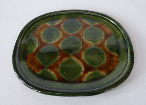 Japanese Contemporary Ceramic Mingei Mashiko-yaki Oval Plate
