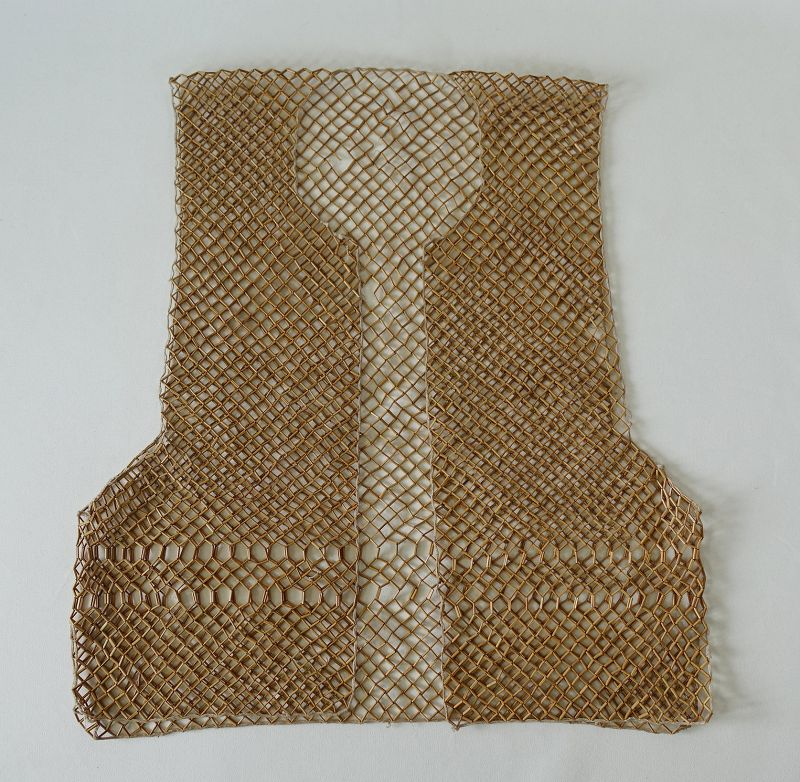Chinese Antique Textile Vest Made of Tiny Bamboo Beads
