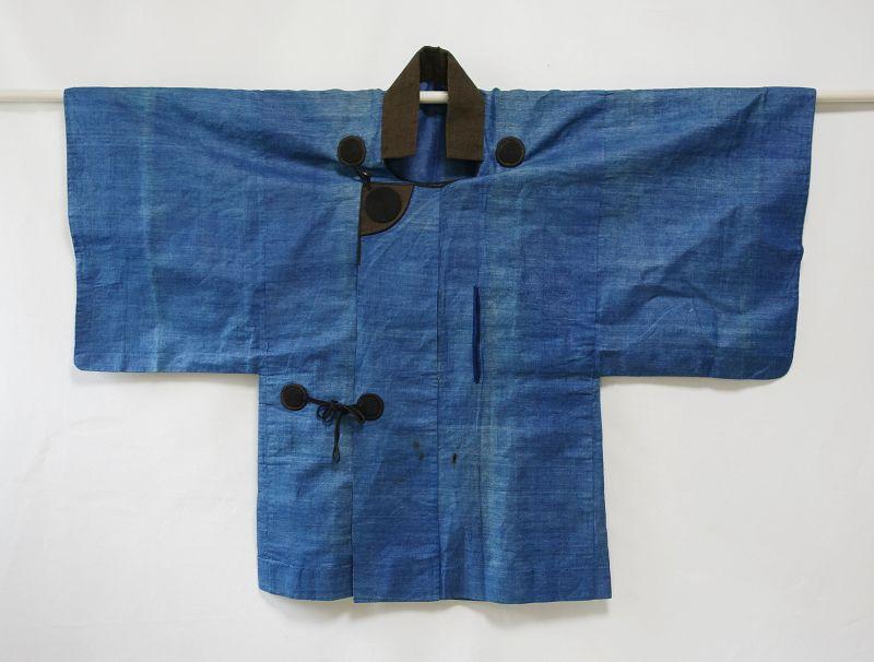 Japanese Antique Textile Han-gappa Made of Kudzu Late Edo