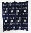 Japanese Antique Textile Cotton Futonji with Kasuri Pattern
