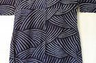 Japanese Vintage Textile Cotton Shibori Kimono with Wave Pattern