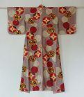 Japanese Vintage Textile Meisen Kimono with Modern Design