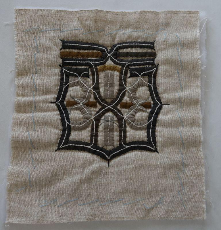 Japanese Vintage Textile Ainu Embroidery & Applique Cloth