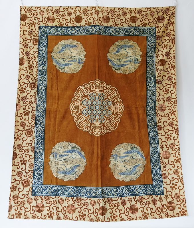 Japanese Antique Textile Cotton Wa-Sarasa Futonji