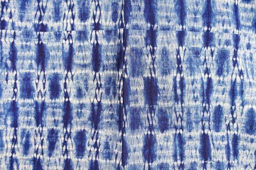 Japanese Vintage Cotton Kimono with Shibori Tie-Dye