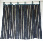 Japanese Antique Textile Asa Hemp Noren with Stripes
