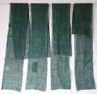 Japanese Antique Textile Asa Kaya Mosquito Net with Mending Patches