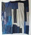 Japanese Vintage Textile Boro Cotton Shikimono Rug