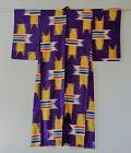 Japanese Vintage Textile Meisen Kimono with Yabane Design