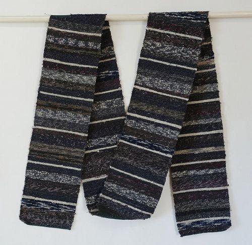 Japanese Vintage Folk Textile Sakiori Cloth for Sodenashi Vest