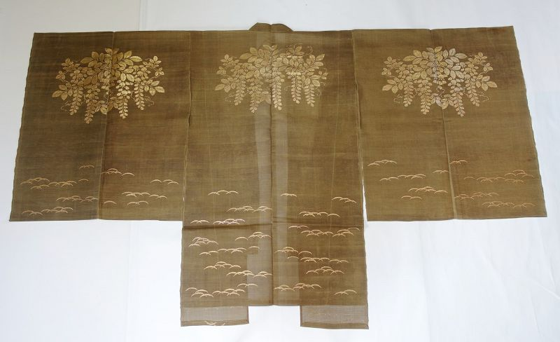 Japanese Antique Textile Noh Drama Costume Choken Cloak