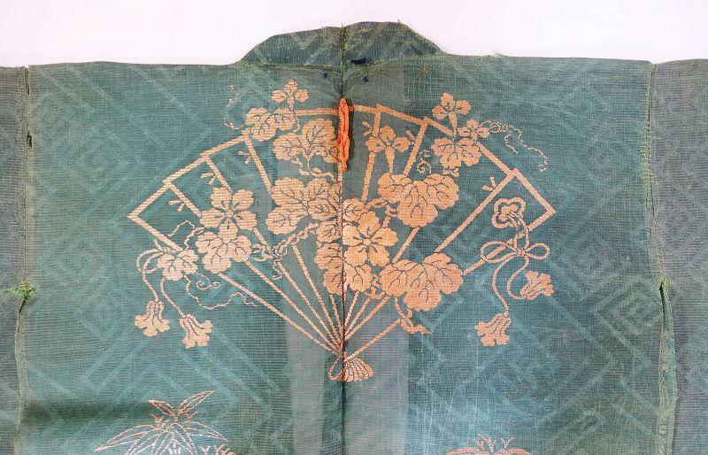 Japanese Antique Textile Noh Drama Costume Choken Cloak