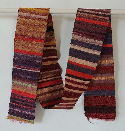 Japanese Vintage Textile Silk Sakiori Obi Sash Many Colors