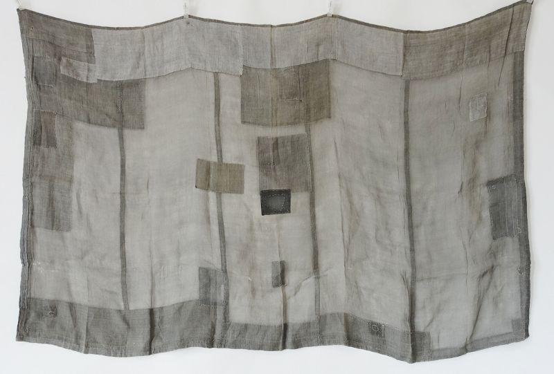 Japanese Antique Textile Asa Kesa Boro Buddhist Stole
