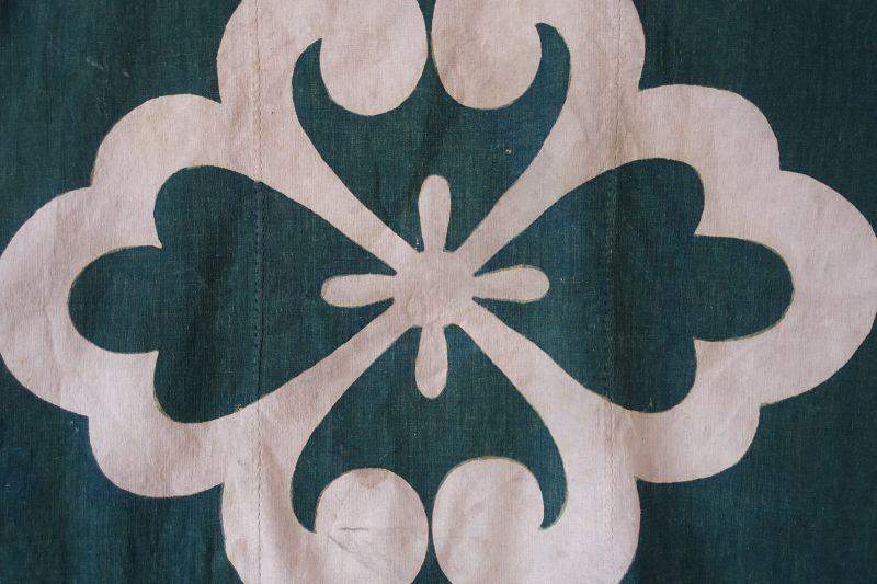 Japanese Antique Textile Cotton Furoshiki Wrapping Cloth Edo