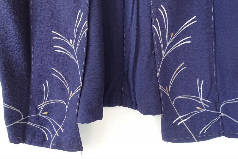 Japanese Vintage Textile Silk Crepe Kasanegi Formal Kimono
