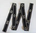 Okinawan Vintage Textile Obi Sash Minsa-Ori Indigo Dye Kasuri