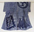 Japanese Vintage Textile Cotton Kimono with Shibori Tie-dye