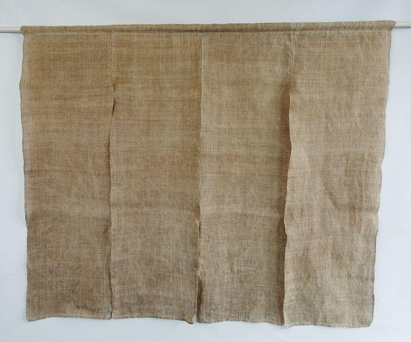 Japanese Vintage Textile Asa Noren Hemp Curtain Natural Color