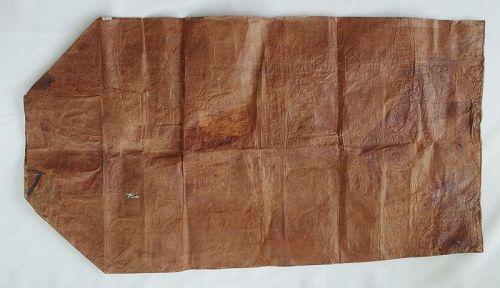 Japanese Vintage Washi Mayu-Bukuro Cocoon Bag with Mending