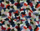 Japanese Vintage Textile Meisen Kimono with Geometric Pattern