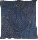 Japanese Antique Textile Extra Large Furoshiki with Amazing Sashiko