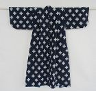 Japanese Antique Textile Indigo Cotton Kasuri Baby's Kimono