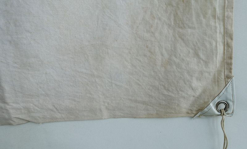 Japanese Vintage Textile Cotton Flag or Banner with Katazome