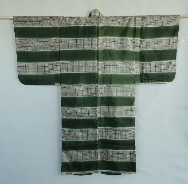 Japanese Vintage Textile Silk Kyogen Costume Kimono for Stage�