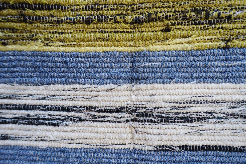 Japanese Vintage Textile Sakiori Obi Sash Cloth