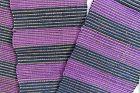 Japanese Vintage Textile Sakiori Obi Sash Purple & Dark Blue