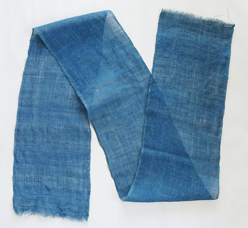 Japanese Antique Textile Indigo Asa Kaya Cloth Mosquito Net