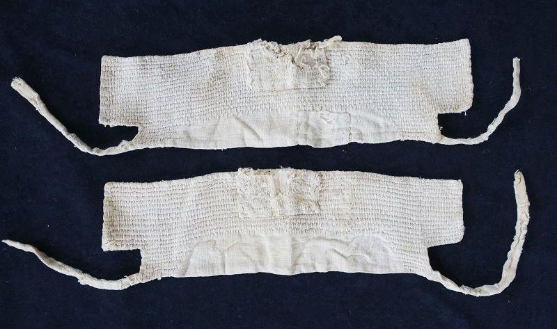 Japanese Vintage Textile Boro Cotton Sashiko Ankle Cover