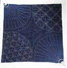 Japanese Vintage Textile Indigo Sashiko Furoshiki With Original Design