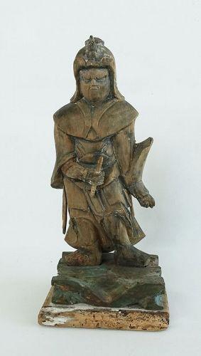 Japanese Antique Wooden Buddha Twelve  Shinsho Early 18th Century