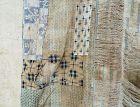 Japanese Vintage Textile Boro Futonji with Kasuri Katazome Etc.