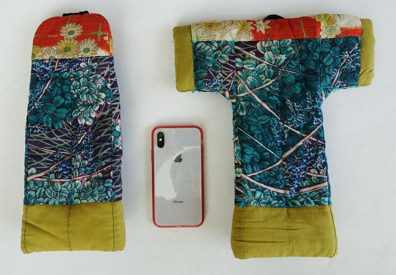 Japanese Vintage Textile Two Pieces of Yogi Miniature Sample