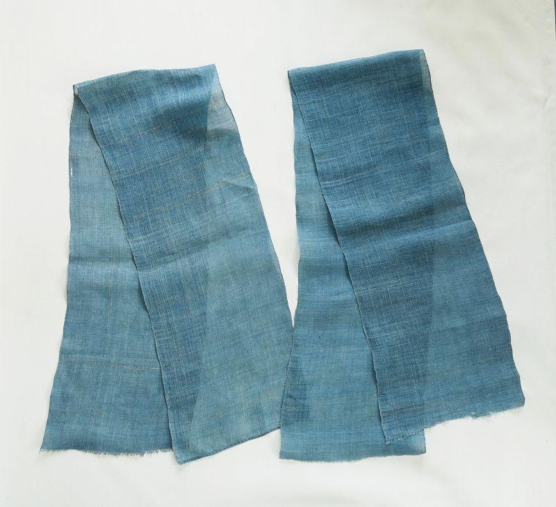 Japanese Antique Textile Asa Kaya Cloth Dyed with Vegetable Indigo