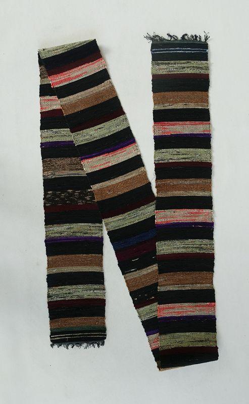 Japanese Vintage Textile Sakiori Obi for Casual Kimono