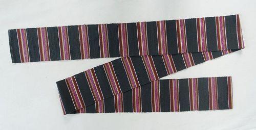 Japanese Vintage Textile Sakiori Obi Sash for Casual Kimono