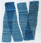 Japanese Antique Textile 2 Pieces of Asa Kaya Cloth Indigo Dye-3