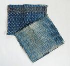 Japanese Vintage Textile Two Pieces of Zokin with Sashiko