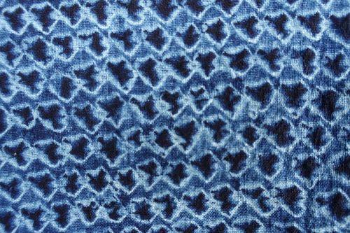 Japanese Vintage Textile Cotton Kimono with Miura Shibori Indigo
