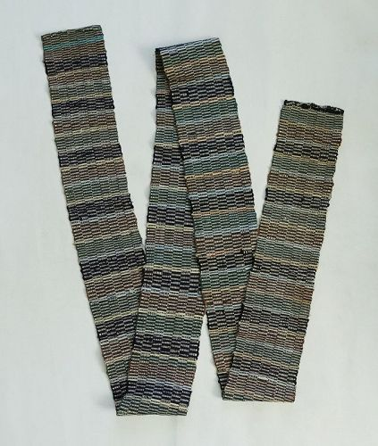 Japanese Vintage Textile Cotton Sakiori Obi Sash for Casual Kimono