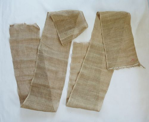 Japanese Antique Textile Asa Hemp Cloth Handwoven