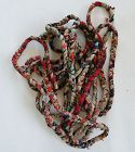 Japanese Vintage Textile Boro Rope Recycled from Old Cotton Cloth-3